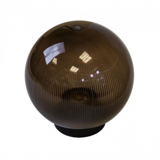 НТУ 02-60-255 ЭРА Светильник садово-парковый шар дымчатый призма D250mm Е27 1
