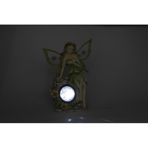 SL-RSN27-ELF ЭРА Садовый светильник на солнечной батарее, полистоун, цветной, 27 см 3