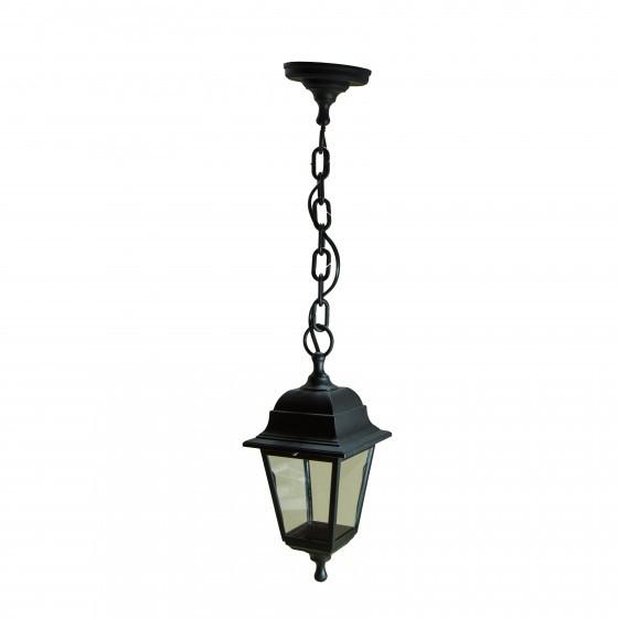 НСУ 04-60-001 черный ЭРА Светильник садово-парковый Адель подвесной четырехгранный черный Е27 1