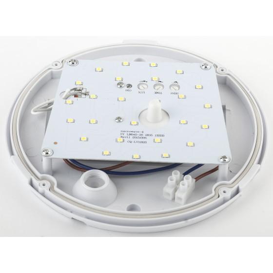 SPB-1-08-MWS (W) ЭРА Cветильник светодиодный IP54 8Вт 640Лм 4000К D180 КРУГ датчик движения 3