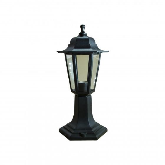 НТУ 06-60-001 черный ЭРА Светильник садово-парковый Оскар1 напольный шестигранный черный Е27 1