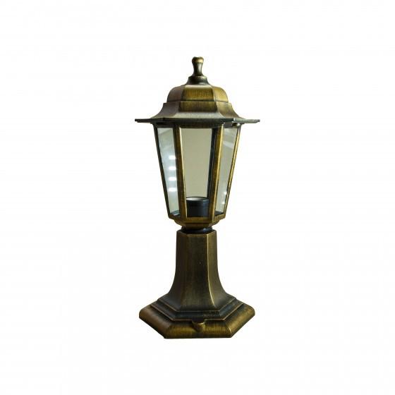 НТУ 06-60-001 бронза ЭРА Светильник садово-парковый Оскар1 напольный шестигранный под бронзу Е27 (8/ 1