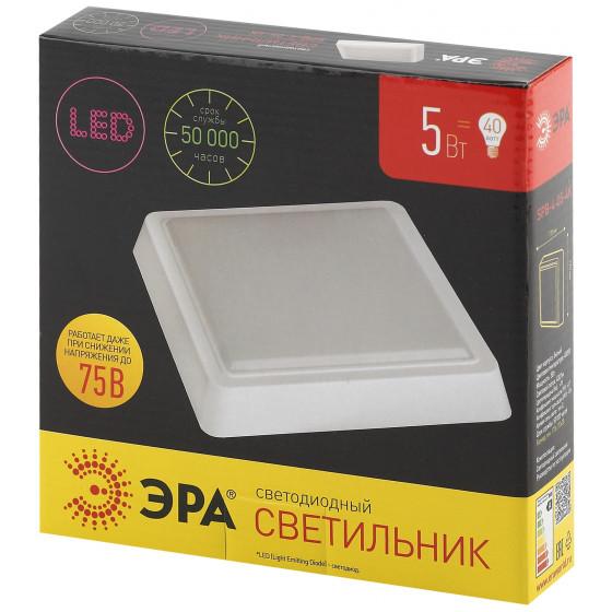 SPB-4-05-4K ЭРА Cветильник светодиодный IP20 5Вт 400Лм 4000К 140мм КВАДРАТ LED 2