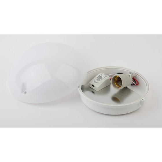 НБП 06-60-102 с фото-шумовым датчиком ЭРА Светильник Сириус IP54 E27 max 60Вт D220 КРУГ БЕЛ акуст да 2
