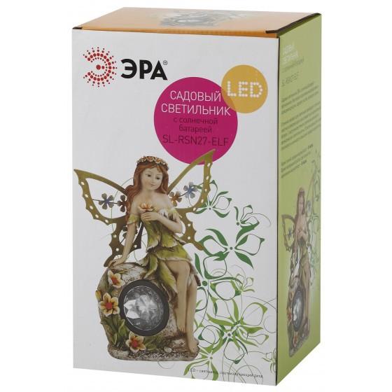 SL-RSN27-ELF ЭРА Садовый светильник на солнечной батарее, полистоун, цветной, 27 см 2