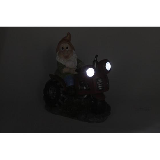 SL-RSN21-GCAR ЭРА Садовый светильник на солнечной батарее, полистоун, цветной, 21 см 2