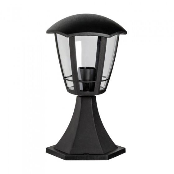 ЭРА Светильник садово-парковый 6гран черный напольный 29см E27 IP44(У1) НТУ 07-40-003 «Валенсия 1» ( 1