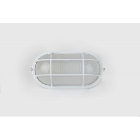 НБП 04-60-002 ЭРА Светильник Акватермо ал/стекло решетка IP54 E27 max 60Вт 212х105 ОВАЛ БЕЛ 2