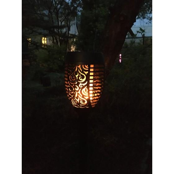 ERASF012-35 ЭРА Садовый светильник Факел на солнечной батарее, 72 см 5