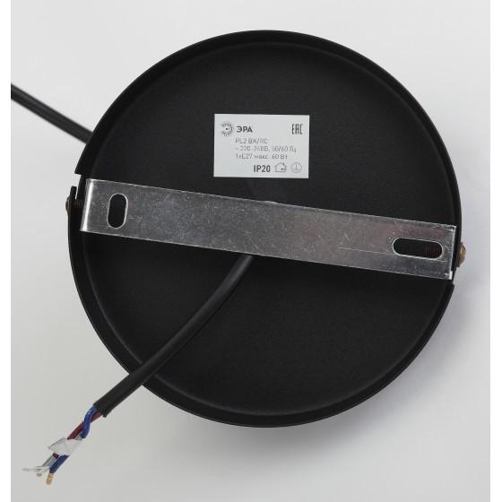 PL2 BK/RC Подвес ЭРА металл, E27, max 60W, d300 мм, шагрень черный/медь 4