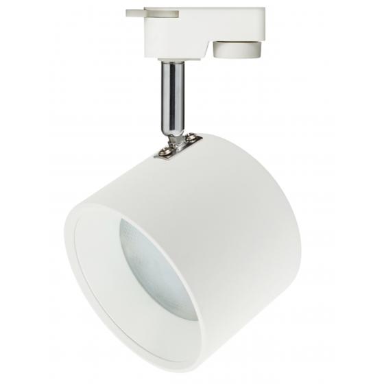 TR15 GX53 WH/SL Светильник ЭРА Трековый под лампу Gx53, алюминий, цвет белый+серебро 1