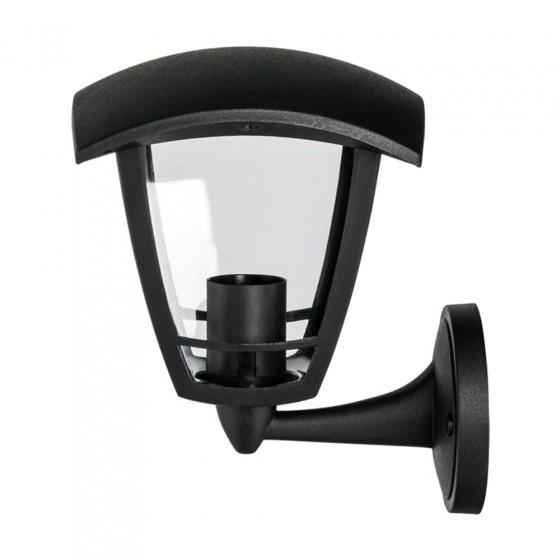 ЭРА Светильник садово-парковый 4гран черный настенный вверх E27 IP44(У1) НБУ 07-40-001 «Дели» 1