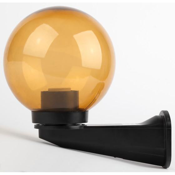 НБУ 01-60-203 ЭРА Светильник садово-парковый шар золотистый с настенным крепежом D200mm Е27 2