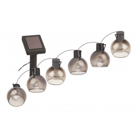 ERAGS08-06 ЭРА Садовая гирлянда 10 подсвечиваемых светодиодами лампочек.Общая длина от солнечной па 1