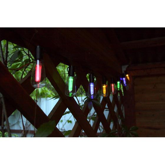 ERAGS012-04 ЭРА Садовая гирлянда 10 подсвечиваемых светодиодами лампочек.Общая длина от солнечной п 3