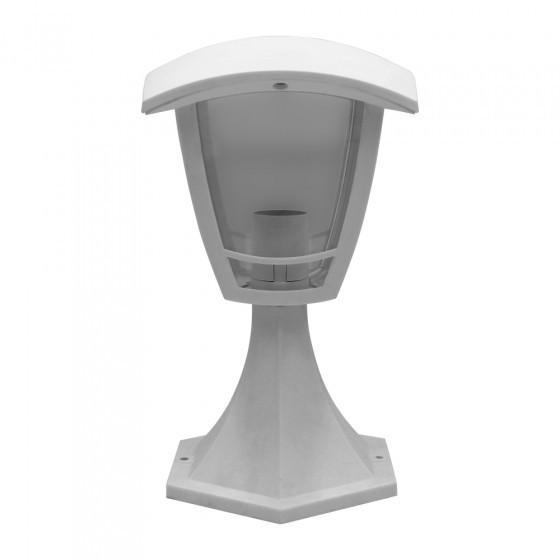 ЭРА Светильник садово-парковый 4гран белый напольный 29см E27 IP44(У1) НТУ 07-40-001 «Валенсия» 1