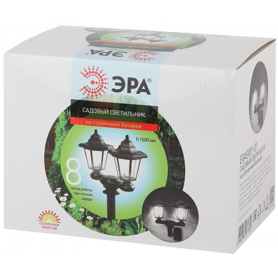 ERASV01-01 ЭРА ЭРА Садовый светильник на солнечной батарее, пластик, черный, 150 см 1