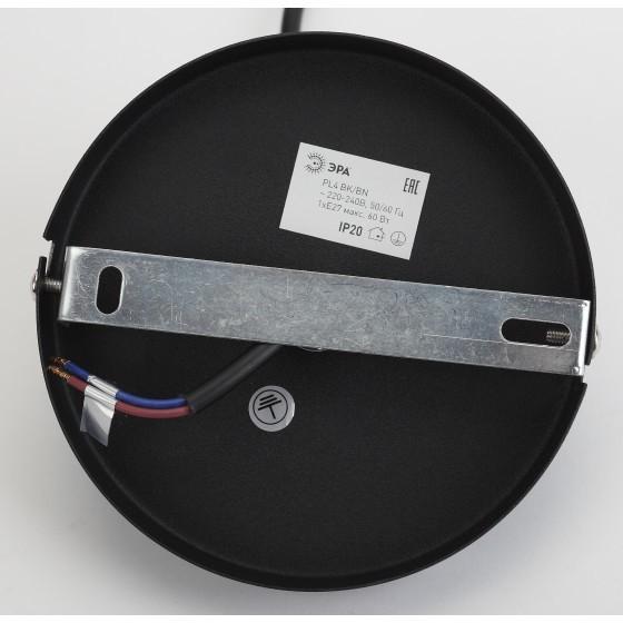 PL4 BK/BN Подвес ЭРА металл, E27, max 60W, d203 мм, шагрень черный/темный никель 4