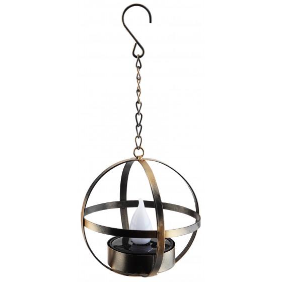 ERASFM-02 ЭРА Садовый светильник Лофт подвесной на цепи на солнечной батарее, металл, 28 см 1