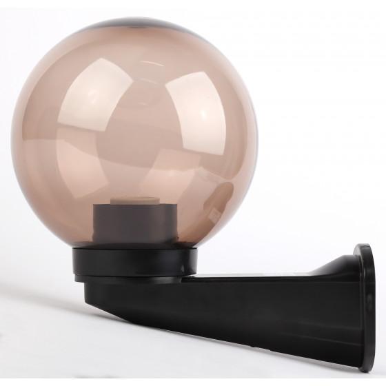 НБУ 01-60-205 ЭРА Светильник садово-парковый шар дымчатый с настенным крепежом D200mm Е27 1