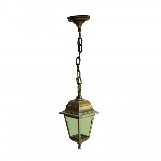 НСУ 04-60-001 бронза ЭРА Светильник садово-парковый Адель подвесной четырехгранный под бронзу Е27 1