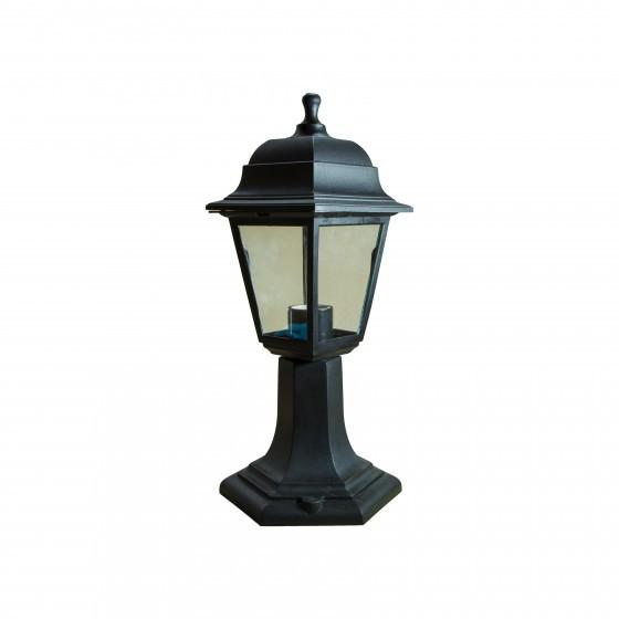 НТУ 04-60-001 черный ЭРА Светильник садово-парковый Оскар напольный четырехгранный черный Е27 1
