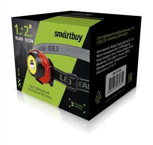 Аккумуляторный налобный фонарь 1Вт + COB 2Вт (SBF-HL035) 2