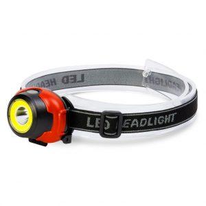 Аккумуляторный налобный фонарь 1Вт + COB 2Вт (SBF-HL035)