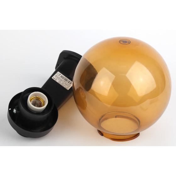 НБУ 01-60-203 ЭРА Светильник садово-парковый шар золотистый с настенным крепежом D200mm Е27 3