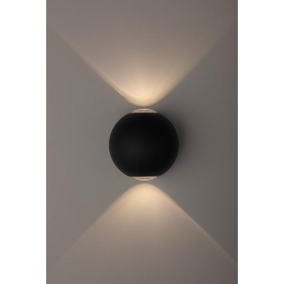 WL11 BK Подсветка ЭРА Декоративная подсветка светодиодная ЭРА 2*1Вт IP 54 черный 2