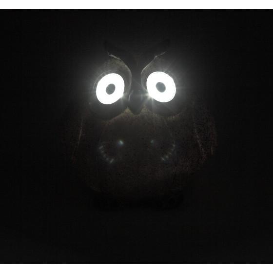 ERAFYS01-08 ЭРА Садовый светильник Сова серая на солнечной батарее, полистоун, 11,5 см 2
