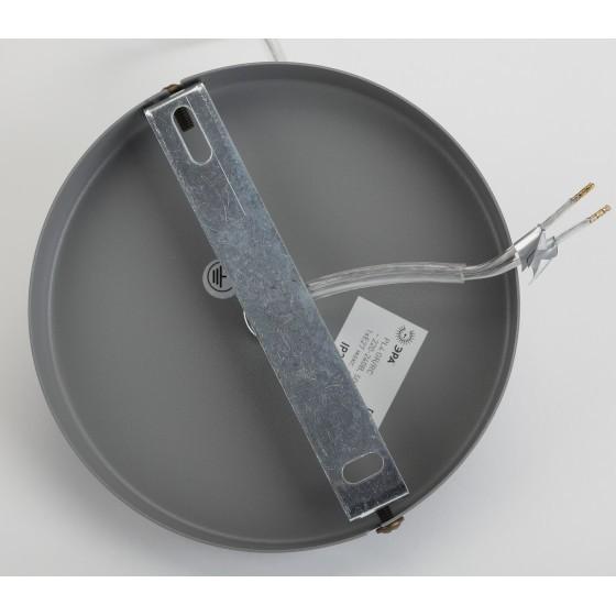 PL4 GR/RC Подвес ЭРА металл, E27, max 60W, d203 мм, шагрень серый/медь 4