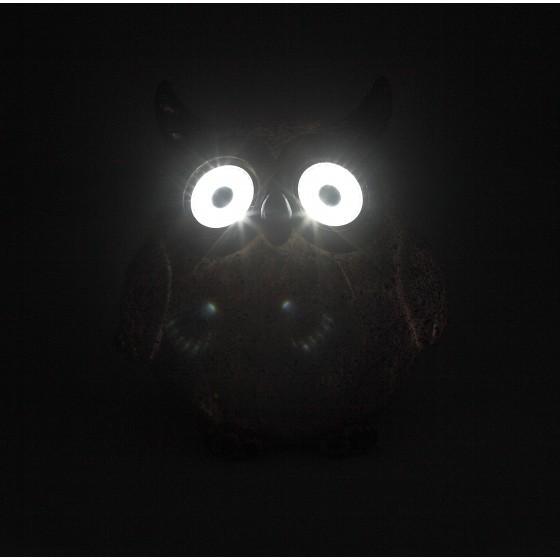 ERAFYS01-07 ЭРА Садовый светильник Филин серый на солнечной батарее, полистоун, 11,5 см 2