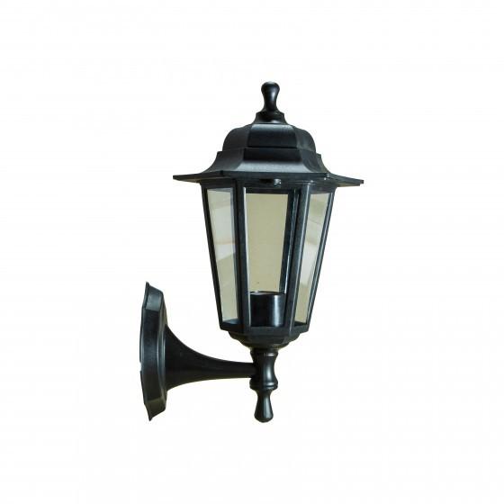 НБУ 06-60-001 черный ЭРА Светильник садово-парковый Леда1 настенный шестигранный черный Е27 1