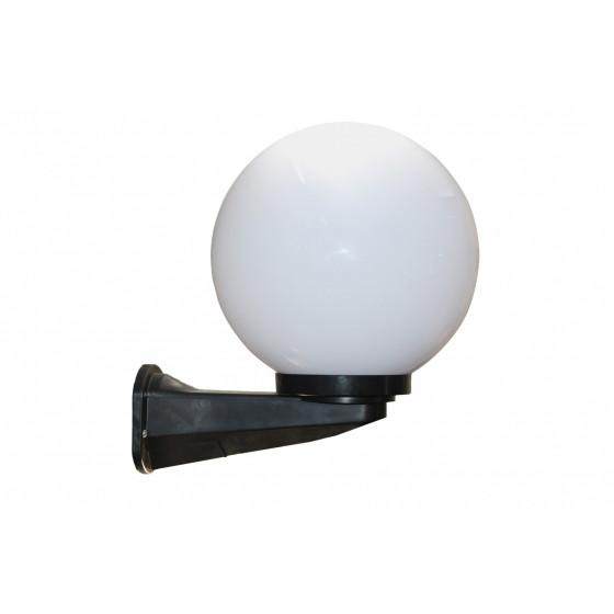 НБУ 01-60-201 ЭРА Светильник садово-парковый шар опал с настенным крепежом D200mm Е27 1