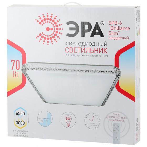 SPB-6 Brilliance Slim S 70 ЭРА Светодиод. св-к 70Вт 3000-6500К 5950 Лм с пультом ДУ 537x81 мм 4