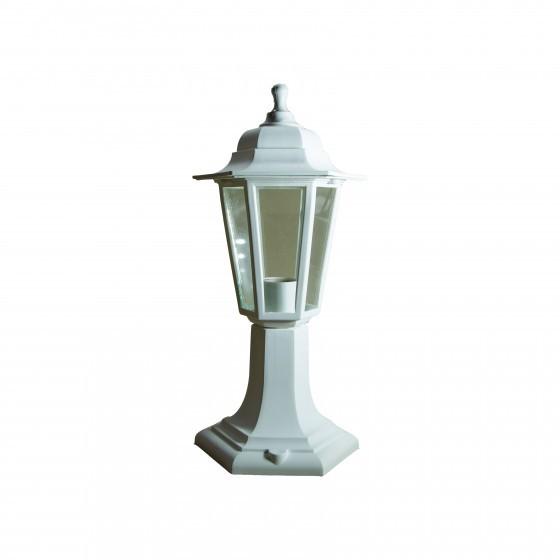 НТУ 06-60-001 белый ЭРА Светильник садово-парковый Оскар1 напольный шестигранный белый Е27 1