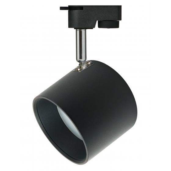 TR15 GX53 BK/SL Светильник ЭРА Трековый под лампу Gx53, алюминий, цвет черный+серебро 1