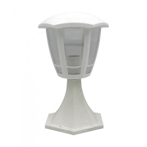 ЭРА Светильник садово-парковый 6гран белый напольный 29см E27 IP44(У1) НТУ 07-40-003 «Валенсия 1» 1