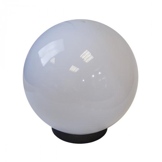 НТУ 02-100-301 ЭРА Светильник садово-парковый шар белый призма D300mm Е27 1