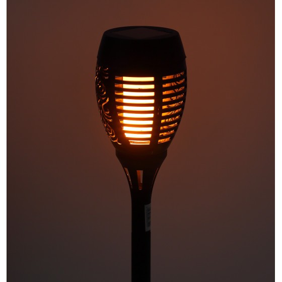 ERASF012-34 ЭРА Садовый светильник Факел на солнечной батарее, 50 см 3