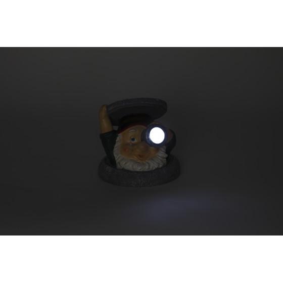 SL-RSN11-GNS ЭРА Садовый светильник на солнечной батарее, полистоун, цветной, 11 см 2