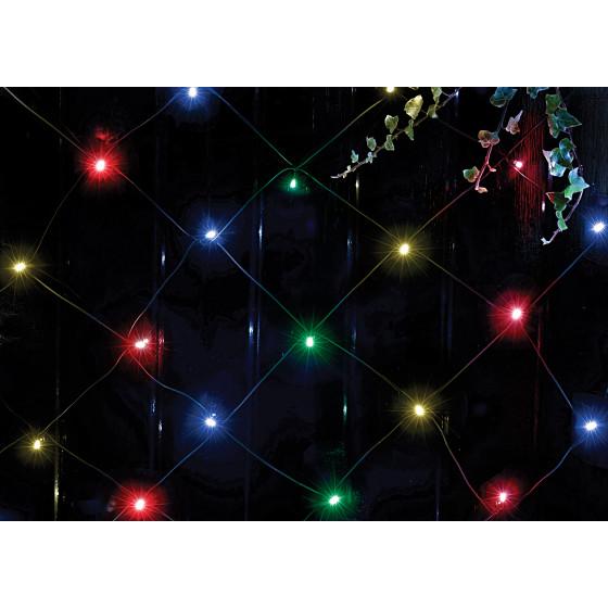 ERAUF024-16 ЭРА Сеть 150 LED на солнечной батарее мультиколор 2м*1,35м 1