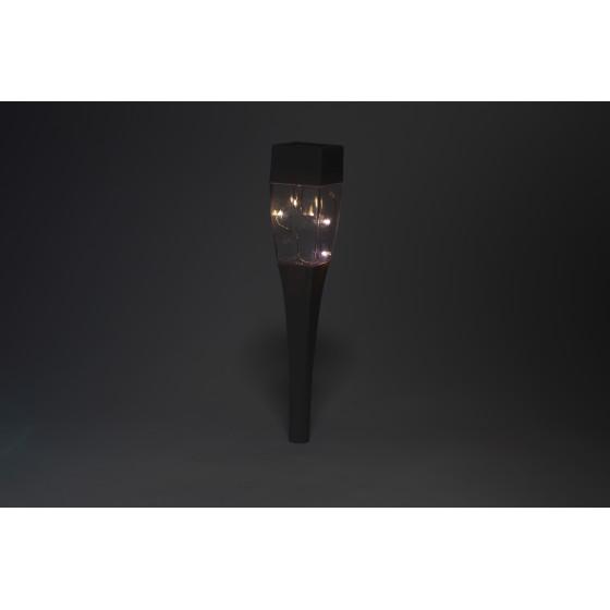 SL-SS38-GLOW-2 ЭРА Садовый светильник на солнечной батарее, сталь, пластик, серый, 38 см 3