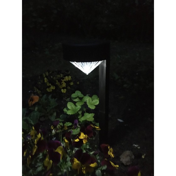SL-PL42-DMD ЭРА Садовый светильник на солнечной батарее, пластик, черный, 42 см 2