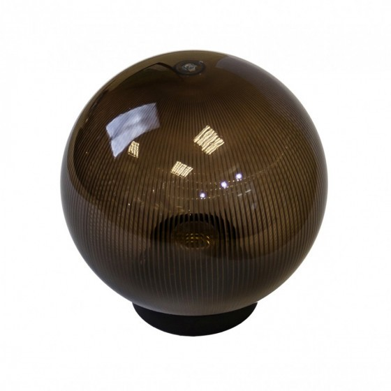 НТУ 02-60-205 ЭРА Светильник садово-парковый шар дымчатый призма D200mm Е27 1