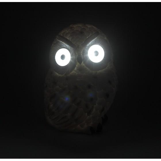 ЭРА Садовый светильник Полярная сова на солнечной батарее, полистоун, 19 см 2