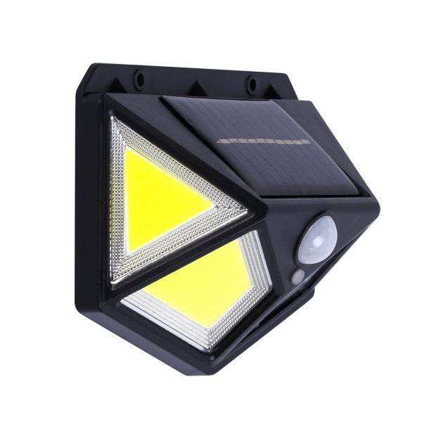 Настенный светильник 10 Вт COB, на солнечных батареях, с датчиком движения, черный (SBF-22-MS) 2