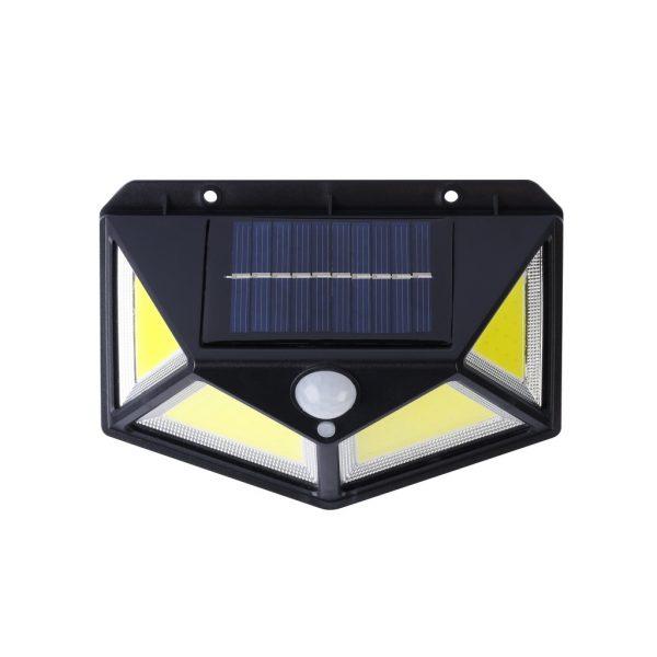 Настенный светильник 10 Вт COB, на солнечных батареях, с датчиком движения, черный (SBF-22-MS) 1