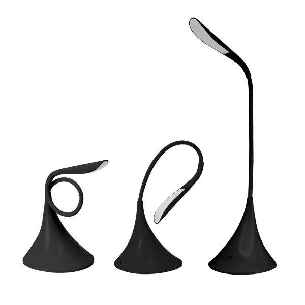 Настольная светодиодная лампа PLATINET 5W черная с функцией ночника [PDL04B] 3
